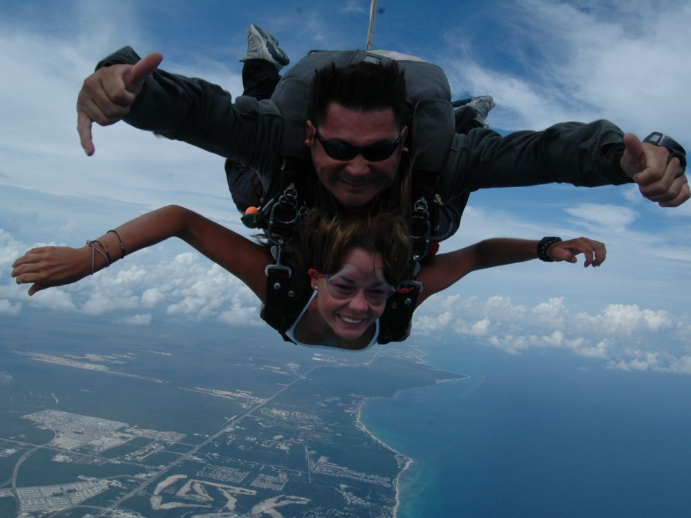 Skydiving på Playa del Carmen